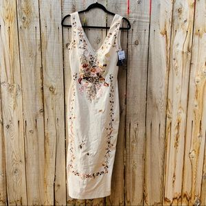NWT Mandalay Embroidered Maxi Dress 498$ Retail